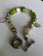 Green glass fashion bracelet