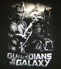 Guardians of the Galaxy Black T-shirt 2XL Rocket Raccoon Root Adult 2014