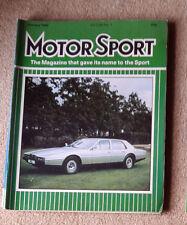 Motor Sport January 1982 RAC Rally review, Ford Fiesta XR-2, Mercedes 230TE