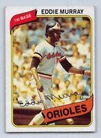 1980  EDDIE MURRAY - Topps Baseball Card # 160 - BALTIMORE ORIOLES