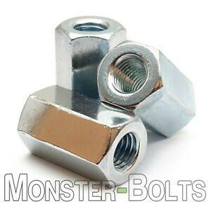 Hex Coupling Nuts DIN 6334 Zinc Plated Class 6 Steel CR+3, Metric M6 M8 M10 M12