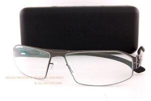 Brand New ic! berlin Eyeglass Frames Arne 2.0 Graphite/Black For Men Women