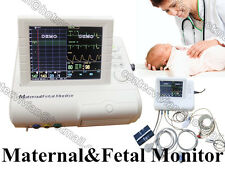 Maternal Mother&Fetal Monitor,TOCO,Fetal Move,Fetal Heart Rate,Pregnant ECG NIBP
