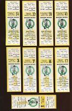 1978-79 NBA Basketball Boston Celtics Full Tickets 9 Different