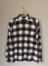 RRP £135 - LACOSTE SPORT Black And White Check Shirt - Size 38 - Small