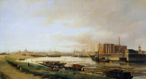 """oil painting  handpainted on canvas """"The Amsterdam sugar refinery """""""