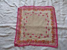 Joli foulard Guy LAROCHE  Vintage français en soie, bon état scarf 70 X 71 cm