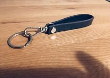 Genuine Leather Navy Key Chain Personalised Or Plain