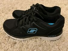 Skechers Sport Women's New Vision Running Shoe Blk/Turqouise Style 11694 Sz 8