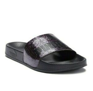 New Puma Sandals Leadcat Glitz and Black Womens Sandals Size 5.5