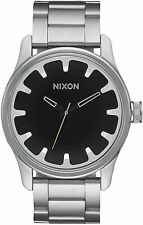 Nixon Men's Driver A979000-00 42mm Black Dial Stainless Steel Watch