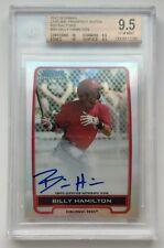 2012 Bowman Chrome 234/500 Billy Hamilton Chrome Prospect Auto Card