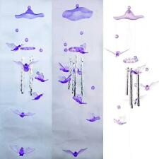 Pigeon Modish Crystal 4 Metal Tubes Windchime Wind Chime Home Garden Decor BY &R