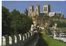 Yorkshire Postcard - York Minster from City Walls    LE81