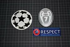 UEFA CHAMPIONS LEAGUE and 7 TIMES CHAMPIONS and RESPECT BADGES 2012-2013