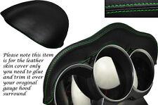 GREEN Stitch Si Adatta Mazda AVVIAMENTO A 2003-2012 Speedo Gauge cappuccio Pelle Pelle coprire solo