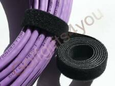 VELCRO STRAP CABLE TIE HOOK & LOOP 10mm WIDE 1m LENGTHS **FREE P&P**