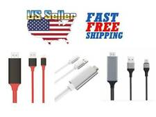1080P 6ft 8 Pin Lightning to HDMI TV AV Adapter Cable for iPhone 6 6S 7 8 Plus X