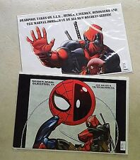 Deadpool Merc with a Mouth #1 Spider-Man Deadpool #1 2009 PROMO POSTER LOT of 2