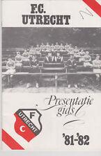 Presentatiegids / Presentation Magazine FC Utrecht 1981-1982
