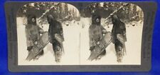 Winter Snowshoes in Northern North America Keystone Geography Stereoview
