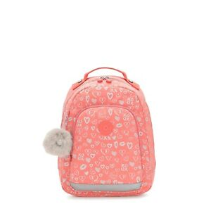 Kipling Small Backpack CLASS ROOM S Laptop Protection HEARTY PINK MET BTS19 £87