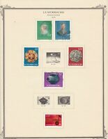 Luxembourg stamps (only), small collection of 17 from 1976, Mint & used