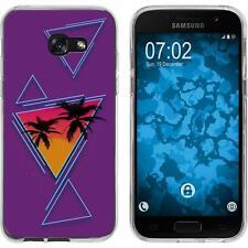 Case für Samsung Galaxy A7 (2017) Silikon-Hülle Retro Wave Palmen M3 Case