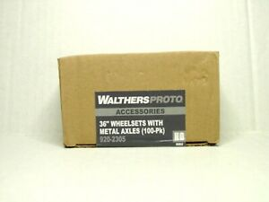 """WALTHERS PROTO HO SCALE 36"""" WHEELSETS W/METAL AXLES (100-PK) 920-2305"""