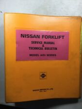 Nissan A01 Series Forklift Service Manual