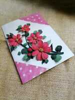New Handmade 3D Paper Quilling Greeting Card  Valentine's Happy Birthday Card