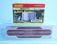 HORNBY 'OO' GAUGE R8675 SKALEDALE 'MODERN LINESIDE HUT & AWS BOX SET' NEW GC7-1