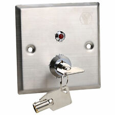 Stainless Steel Hollow Door Release Eixt Button Emergency Key Switch With Led