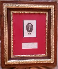 1700s KING GEORGE III SIGNED Page Royal Seal 1804 Etching Autograph vtg RARE