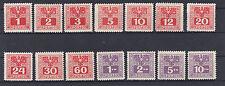 1945 Österreich Porto ANK 175 - 188 Adler über Wertziffer Postfrisch **
