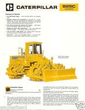 Equipment Brochure - Caterpillar - 825C - Compactor - c1978 (E2040)