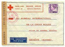 NED INDIE DUTCH INDIES 1941-1-12  RED CROSS-CENSOR PM-SOEKABOEMI- TO SWITZERLAND