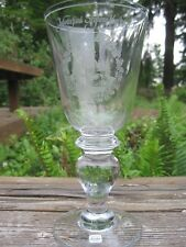 Vtg Kosta Boda Sweden Glass Goblet Crystal Signed 1976 Seglora Church Xmas Large