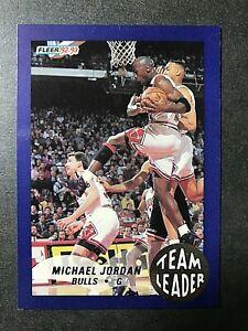 1992-93 Fleer Team Leaders #4 Michael Jordan !