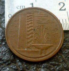 Singapore 1 cent 1974  'GEF'.