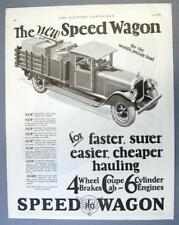 Original 1927 REO Speed Wagon Pikcup Ad FOR FASTER SURER EASIER CHEAPER HAULING