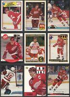 Detroit Red Wings Steve Yzerman 1988-1996 Hockey 9 card lot O-Pee-Chee Topps UD