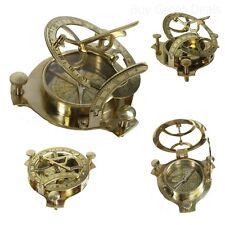 Brass Sundial Compass Nautical Maritime Antique Vintage Style Decor Gift