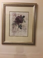 Purple Rose Painting prints in Silver Frame 23X20
