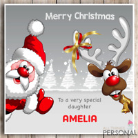 Personalised Christmas Card Son Daughter Granddaughter Grandson Uncle Aunt Niece