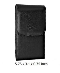 Leather Belt Clip Vertical Case Holster for Cell Phones fits w/ OTTERBOX ON IT
