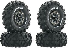 "Duratrax Showdown CR C3 2.2"" Mounted Tires Wheels (4) Rock Crawler Wraith SCX10"