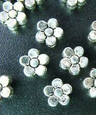 100pcs Tibetan Silver 5-Leaf Flower Spacers Beads T71