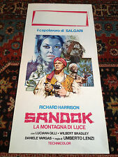 Sandok La Montagna Di Luce locandina poster Richard Harrison Gilli Lenzi Salgari