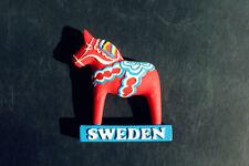 Schweden Swedish Dala Horse Reiseandenken 3D Kühlschrankmagnete Souvenir Magnet